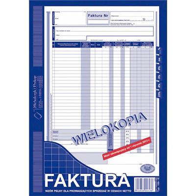 Druk Mip Faktura Vat A4 Wielokopia 100 1e 11445